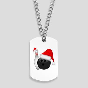 Christmas Bowling Dog Tags