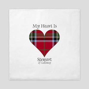 Heart-StewartGalloway Queen Duvet