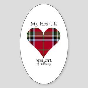 Heart-StewartGalloway Sticker (Oval)