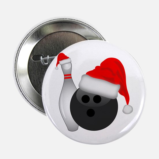 "Christmas Bowling 2.25"" Button"