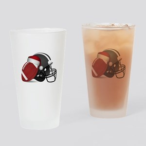 Christmas Football Drinking Glass