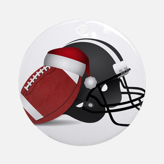 Christmas Football Round Ornament