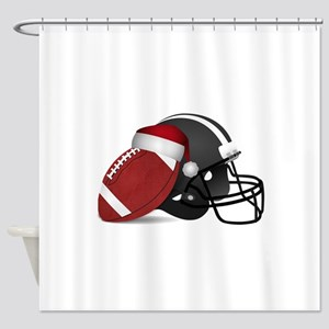Christmas Football Shower Curtain