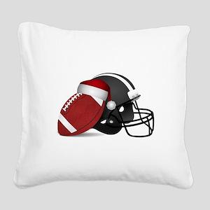 Christmas Football Square Canvas Pillow