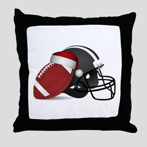 Christmas Football Throw Pillow