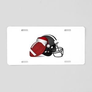 Christmas Football Aluminum License Plate