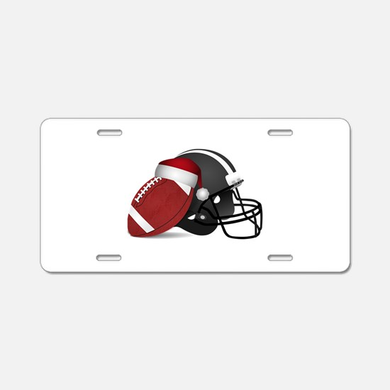 Christmas Football Aluminum License Plate