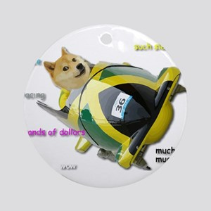 Doge funded Jamaican Bobsled Team Round Ornament