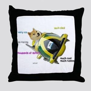 Doge funded Jamaican Bobsled Team Throw Pillow