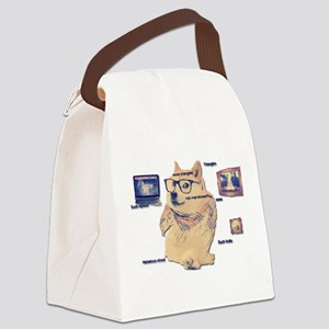 Hipster Doge Hipster things Canvas Lunch Bag