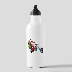 biker badass santa cla Stainless Water Bottle 1.0L