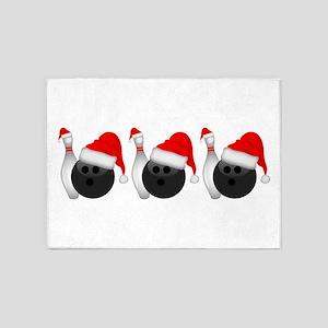 Christmas Bowling 5'x7'Area Rug