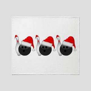 Christmas Bowling Throw Blanket
