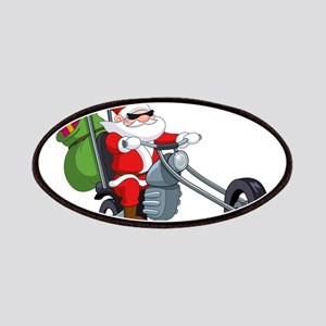 biker badass santa claus Patch