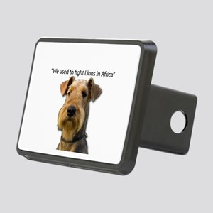 Airedales used to Fight Li Rectangular Hitch Cover