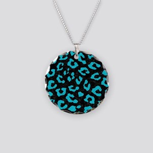 SKIN5 BLACK MARBLE & TURQUOI Necklace Circle Charm