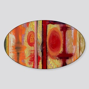 Abstract Earth Tone Sticker
