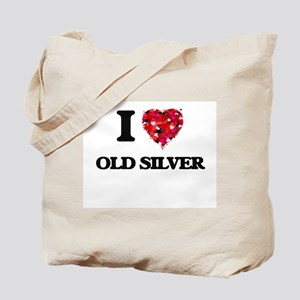 I love Old Silver Massachusetts Tote Bag