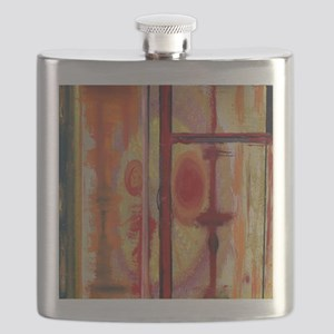 Abstract Earth Tone Flask