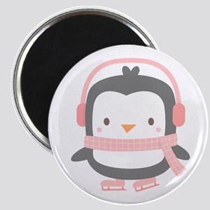 Cute Penguin with Ear Muffs Magnets