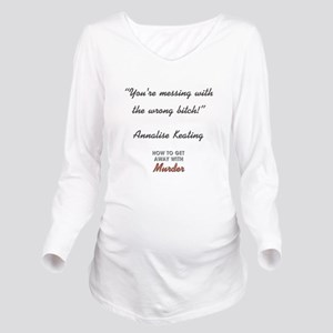 YOU'RE MESSING... Long Sleeve Maternity T-Shirt