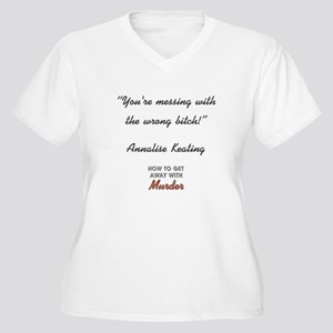 YOU'RE MESSING... Women's Plus Size V-Neck T-Shirt