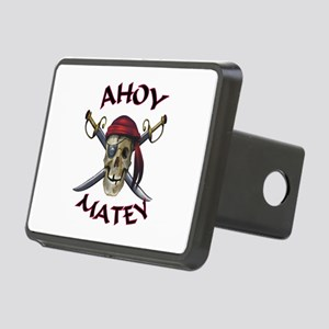 Pirate Skull Ahoy Rectangular Hitch Cover