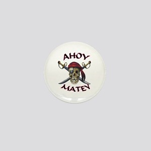 Pirate Skull Ahoy Mini Button