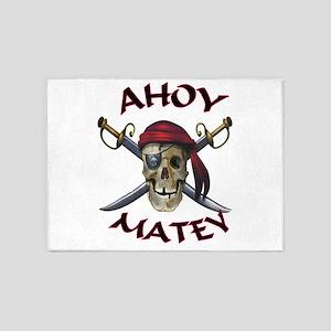 Pirate Skull Ahoy 5'x7'area Rug