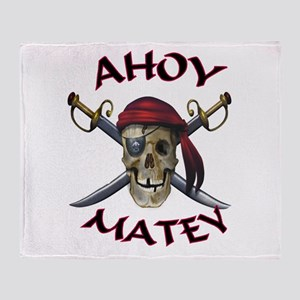 Pirate Skull Ahoy Throw Blanket