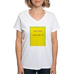 Note Card 2 Women's V-Neck T-Shirt