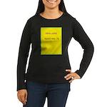 Note Card 2 Women's Long Sleeve Dark T-Shirt