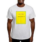 Note Card 2 Light T-Shirt