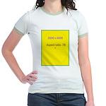 Note Card 2 Jr. Ringer T-Shirt