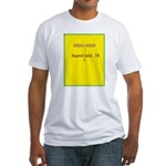 Note Card 2 Fitted T-Shirt