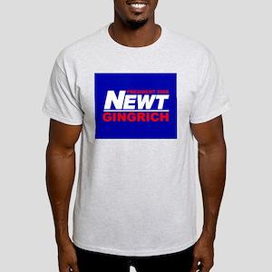 NEWT GINGRICH PRESIDENT 2008 Ash Grey T-Shirt