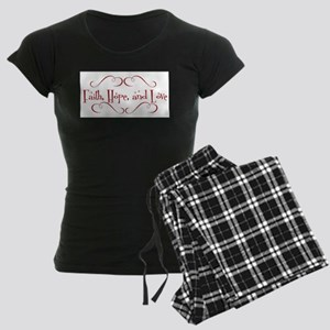 faith, hope, love Women's Dark Pajamas