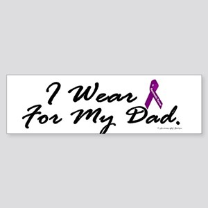 I Wear Purple 1 (Dad PC) Bumper Sticker