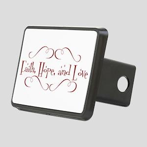 faith, hope, love Rectangular Hitch Cover
