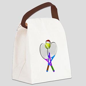 Christmas Tennis Canvas Lunch Bag