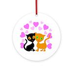 Kitty Cat Love Ornament (Round)