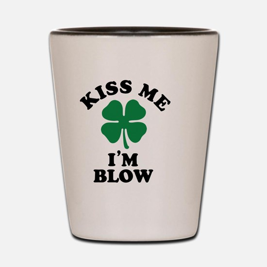 Funny Blow kisses Shot Glass