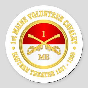 1st Maine Cavalry Round Car Magnet
