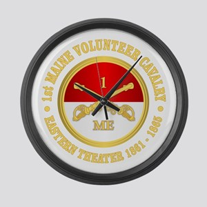 1st Maine Cavalry Large Wall Clock