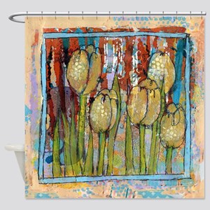 Watching Tulips Shower Curtain