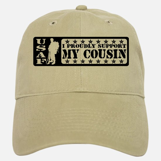 Proudly Support Cousin - USAF Baseball Baseball Cap