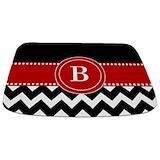 Red black chevron Memory Foam Bathmats