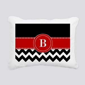 Red Black Chevron Personalized Rectangular Canvas