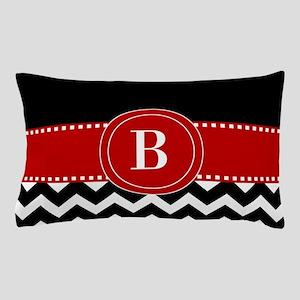 Red Black Chevron Personalized Pillow Case