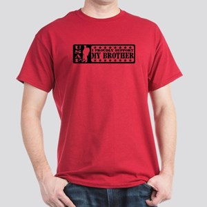 Proudly Support Bro  - USAF Dark T-Shirt